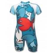Maillot de bain une pièce anti uv enfant - poisson Rouge Lem
