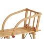 Siège pour luge enfant avec barreaux en bois
