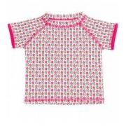T-shirt anti uv manches courtes à fleurs Rose et vert