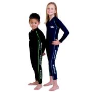 Maillot de bain une pièce manches longues anti uv Sport enfant - Noir