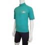 T-shirt de surf manches courtes anti uv mixte - Topaz