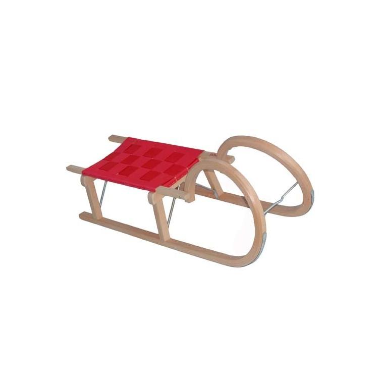 Luge En Bois Avec Dossier : Luge > Loisirs > Luges en bois > Luge traditionnelle bois 110 cm avec