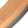 Luge traditionnelle bois 115 cm avec assise rouge
