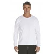 T-Shirt Manches Longues anti Uv pour Hommes- white