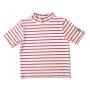T-Shirt manches courtes anti uv enfant - Blanc rayé rouge