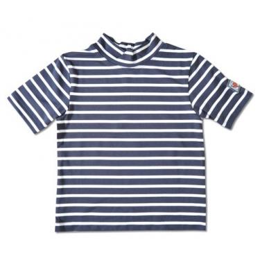 T-shirt manches courtes anti uv enfant - Bleu rayé Blanc
