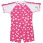Maillot de bain une pièce manches courtes anti uv enfant - Hot Pink Daisy