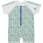 Maillot de bain une pièce manches courtes anti uv enfant - Blue/Green Fish