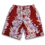 Boardshort anti uv enfant - Rouge Hawai