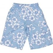Boardshort anti uv enfant - Bleu/Blanc Hawai