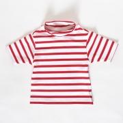 T-Shirt anti UV enfant - Rouge/Blanc