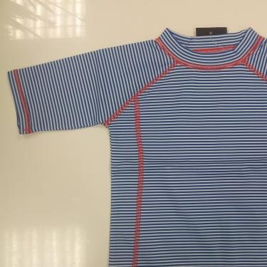 T-Shirt manches courtes enfant rayures bleues