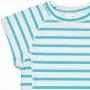 T-Shirt manches courtes anti uv - Aqua/Blanc