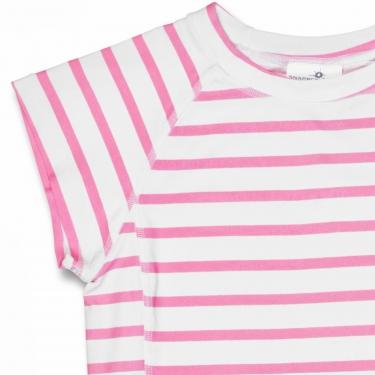 T-Shirt manches courtes anti uv - Rose/Blanc