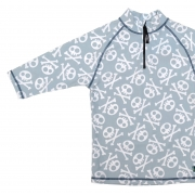 T-shirt de bain anti uv enfant - tête de mort gris