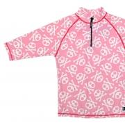 T-shirt de bain anti uv enfant - tête de mort rose