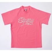 T-shirt de surf manches courtes anti uv femme - Rose