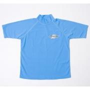T-shirt de surf manches courtes anti uv mixte - Azure