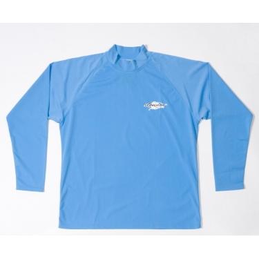 T-shirt de surf manches longues anti uv mixte - Azure