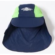 Casquette de bain anti uv enfant - Bleu marine/Vert