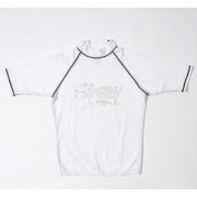 T-shirt de surf manches courtes anti uv mixte - Blanc