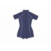 Maillot de bain une pièce manches courtes anti uv femme - Bleu marine