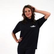 T-shirt de surf manches courtes anti uv taille Plus femme - Bleu marine