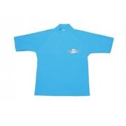 T-shirt de surf manches longues anti uv taille Plus femme - Azure