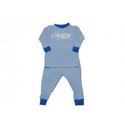 Maillot de bain une pièce manches longues anti uv bébé - Bleu clair/Royal