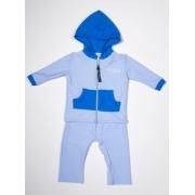 Kit de bain manches longues anti uv bébé - Bleu clair/Royal