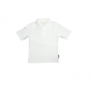 Polo manches courtes anti uv junior - Blanc
