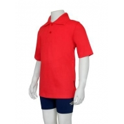 Polo manches courtes anti uv adulte - Rouge