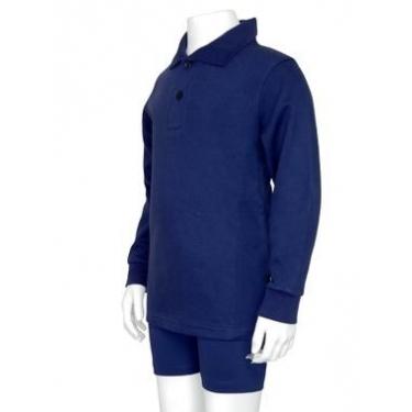 Polo manches longues anti uv junior - Bleu marine