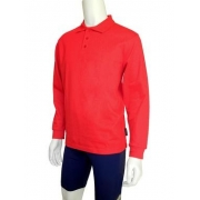 Polo manches longues anti uv adulte - Rouge