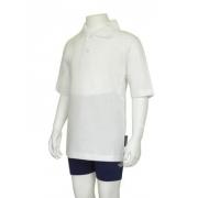 Polo manches courtes anti uv adulte - Blanc