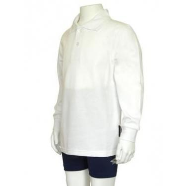 Polo manches longues anti uv junior - Blanc