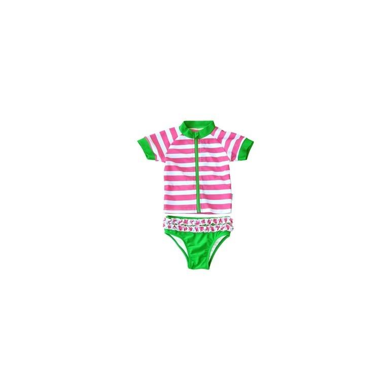 swimzip maillot de bain anti uv fille 2 pi ces watermelon crawl. Black Bedroom Furniture Sets. Home Design Ideas