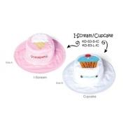 Chapeau soleil anti uv enfant réversible Glace/Cupcake