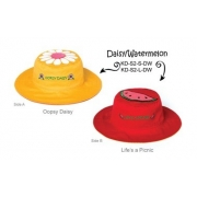 Chapeau soleil anti uv enfant réversible Paquerette/pastèque