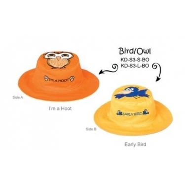 Chapeau soleil anti uv enfant réversible Hiboux/Oiseau