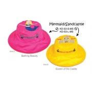 chapeau de soleil anti uv enfant réversible Sirène/chateau de sable