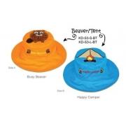 Chapeau soleil anti uv enfant réversible Castor/Tente