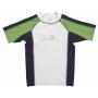 T-Shirt manches courtes anti uv - Vert/Bleu marine/Blanc