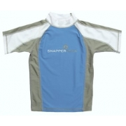 T-Shirt manches courtes anti uv - Turquoise/Gris/Blanc