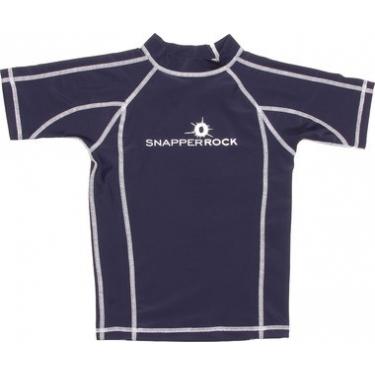 T-Shirt manches courtes anti uv - Bleu marine/Blanc