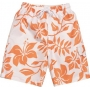 Boardshort anti uv enfant - Orange/Blanc Hawai