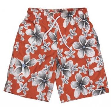 Boardshort anti uv enfant - Orange Hawai