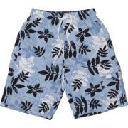 Boardshort anti uv enfant - Bleu foncé/ Bleu clair/Blanc Fleuri