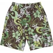 Boardshort anti uv enfant - Vert/Marron/Blanc Hawai