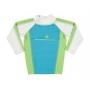 T-Shirt manches longues anti uv Bleu/Vert/Blanc